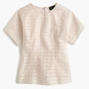 J. Crew Collection Pink Mixed Organza Top